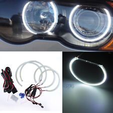 4Pcs Bright White Headlight SMD Angel Eyes Halo Ring For BMW E53 X5 2000-2003