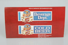 Original Schlitz Beer Refrigerator Sign Distributer Advertising Card Old