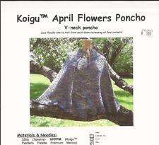 Koigu April Flowers Poncho KNITTING PATTERN  V-neck Lace Poncho Pattern Only