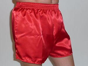 Red Satin Boxers in Medium