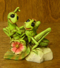 Animal Figurines by Castagna #832 Grasshopper Lovers, NEW/Box From Retail Store