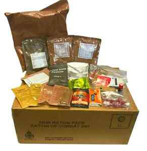 BRITISH ARMY MILITARY MRE 24 HOUR RATION PACK ORP - Camping Hiking Fishing