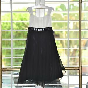 Biscotti Girls Black Party Dress Size 12 Nwt