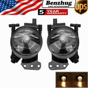 Front Bumper Fog Light Housing + Bulbs For BMW E46 E60 E63 E90 325i 525i X3 650i