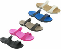 Crocs Sandals Cleo V Slip On Beach Summer Holiday Cushioned Womens Flats UK 4-9