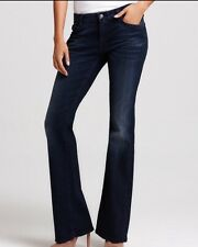 """WOW~ 7 FOR ALL MANKIND sz 27 """"KIMMIE"""" BOOTCUT DARK WOMENS JEANS"""