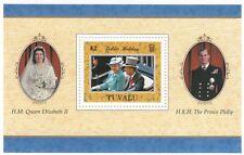(74611) Tuvalu MNH Queen Golden Wedding Minisheet 1997 unmounted mint