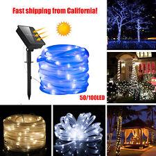 Solar Rope Tube Lights 50/100 LED Strip Waterproof Outdoor Landscape Lighting