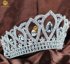 "Royal 4.5"" Pageant Tiara Crown Rhinestone Bridal Wedding Headband Party Hairwear"