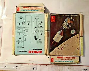 Box for Model Apollo Spacecraft inc Snoopy Charlie Brown Command Module AMT Corp