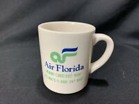 Vintage Air Florida  Airlines Coffee Cup Or Mug Blue Green Logo