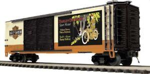 ✅MTH PREMIER HARLEY DAVIDSON MOTORCYCLE DOUBLE DOOR 50' BOX CAR 20-93543!