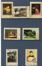 Foreign Paintings in Soviet Galleries 1973 USSR used set Mi 4187-93