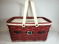 2010 Longaberger Santa Belly Medium Market Basket w/ Insulated Cooler