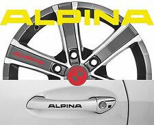 4 x Türgriff- Felgen Aufkleber Alpina 001 # 1451