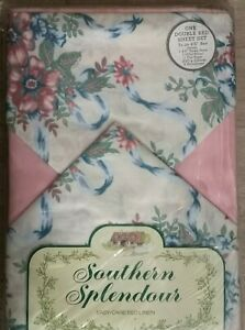 Vintage Double Bed Sheet Set And Pillow Cases
