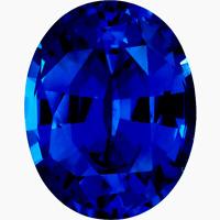 Lab Created Rich Vivid Blue Sapphire AAA+ Oval Loose Gemstone (5x3mm - 16x12mm)
