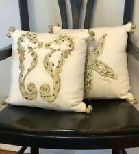 Pottery Barn Lilly Pulitzer Seeing Stars Starfish Sea Horses 12 x12 Pillow