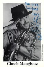 CHUCK MANGIONE hand-signed FANTASTIC CLOSEUP PORTRAIT authentic w/ UACC RD COA
