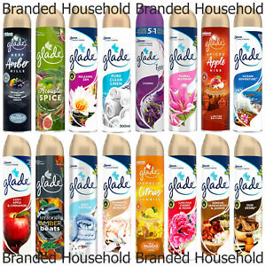 3 x GLADE HOME ROOM OFFICE AIR FRESHENER SPRAY CHOOSE FRAGRANCE SCENT 300ML