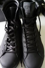y-3/adidas lt mid black leather sneakers…size us8/uk7.5…as new in box…rare...