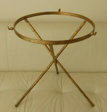 FRENCH METAL BAMBOO TRIPOD ROUND TABLE