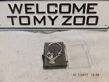 vintage 1958-59 Ford Thunderbird Emblem Badge Key Ring Chain sterling silver