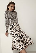 Country Road TRENERY Leopard Print Skirt [8,10] NWT RRP$150