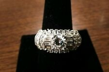 BEAUTIFUL FAUX DIAMOND CLUSTER BAND RING SIZE 10