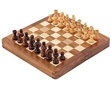 Large Chess Set Sheesham & Boxwood mini inlaid 10'' Magnetic Opening storage