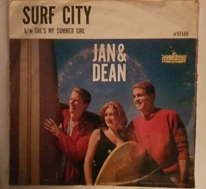 RARE **  JAN & DEAN ** 1963  ** SURF CITY ** SP - ORIGINAL USA 45 t