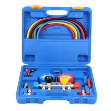 4 Way Manifold Vacuum Gauge Set R134a R410a R22 A/C AC HVAC Refrigeration Tools