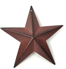 Primitive Barn Star 5.5 inch Burgundy Red Country Decor