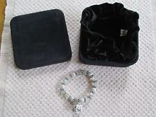 """""""PRAYING HANDS"""" FIRST COMMUNION BRACELET. CRYSTALS, PEARLS, TRINKET BOX STRETCHY"""