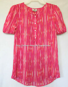 75% OFF! AUTH WORTHINGTON BUTTON-FRONT BLOUSE TOP SMALL BNEW SRP US$19.99