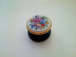 Staffordshire Enamels Signed Pill Box