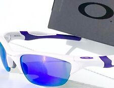 NEW* Oakley HALF JACKET 2.0 WHITE w VIOLET Iridium Lens Sunglass oo9144-08