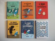 BD PUB Série 6 Albs 10x15 cm LES SCHTROUMPFS journal LE SOIR - PEYO mini-récits