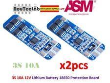 2pcs 3S 10A Li-ion Lithium 18650 BMS PCM Battery 12V Protection Board