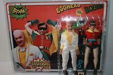 1966 BATMAN TV SERIES 2 PACK EGGHEAD  & ROBIN 8 INCH FIGURES & ACCESSORIES NEW