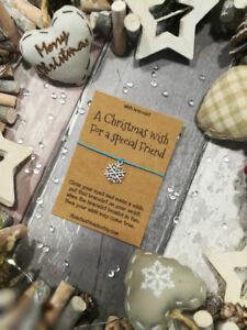 Friend Christmas Wish Bracelet, A Christmas Wish for a special Friend, Christmas