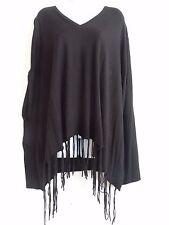 Michael Kors Womens Black V-Neck Poncho Sweater Top Sz S/M Free Shipping Sale