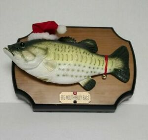 Gemmy Big Mouth Billy Bass Singing Animated Christmas Song Jazz Plays 1 Song