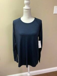 ATHLETA Uptempo Top NWT - LARGE Navy MSRP $69 ***2019 Style RARE***