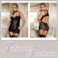 Sexy Wet Look Black Vinyl Lace Basque & Thong Size 8 10 12 14 16 18 20 22 Plus