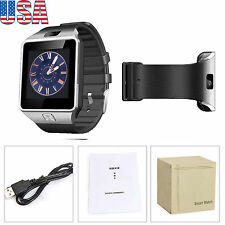 Silver DZ09 Smart Wrist Bluetooth Watch GSM SIM Phone Mate for Android iPhone US