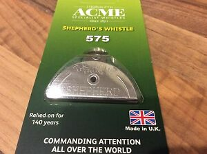GENUINE Acme Shepherds Lip Mouth Whistle Sheep Dog Training chrome nickel no.575