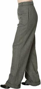 Flared Trousers size UK12 12 Wide Leg 1940s style Retro Dance Jive High Waisted