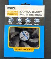 Zalman Ultra Quiet Fan shark fin blade fluid shield bearing ZM-F2 plus 92mm