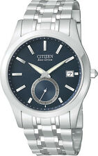 NEW Citizen BV1010-56L Men's Watch Stainless Eco-Drive Dark Blue Dial WR 5Yr Wty